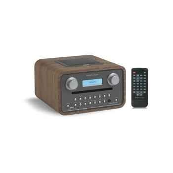 Poste radio lecteur cd dab fm sorties casque et mp3 noyer tangent -radio cinque-noy