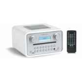 poste radio lecteur cd dab fm sorties casque et mp3 blanc tangent radio cinque b