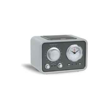 Radio de table am fm réveil laque silver tangent -radio duo-ls