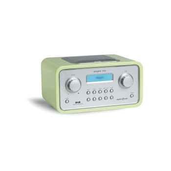 Radio de table am fm dab réveil laque vert anis tangent -radio trio-lva