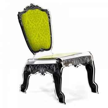 Relax chair baroque verte acrila -rcbv