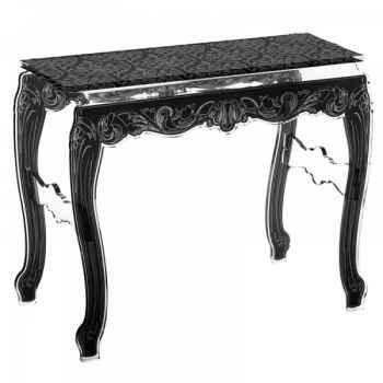 Table console baroque noire acrila -tcbn