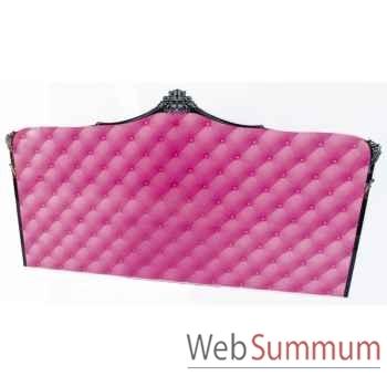 Tête de lit capiton rose lit 140 acrila -tlc140