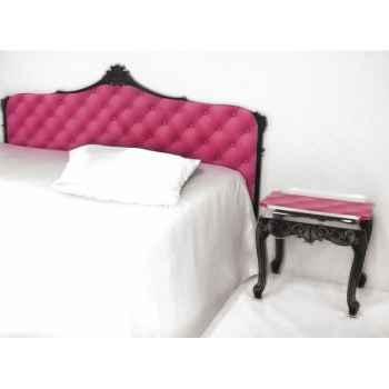 Tête de lit capiton rose lit 160 acrila -tlc160