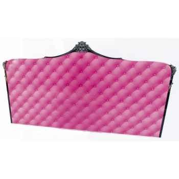 Tête de lit capiton rose lit 180 acrila -tlc180