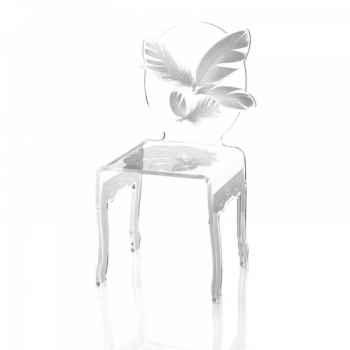 Chaise plume acrila -cp