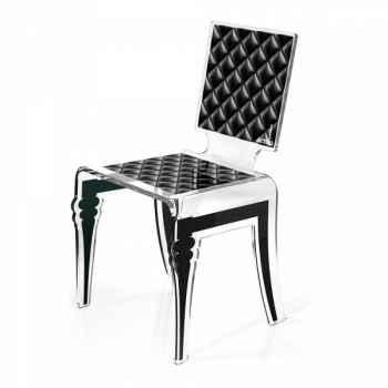 Chaise diam noire acrila -cdn