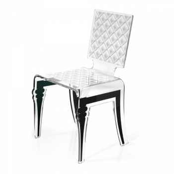 Chaise diam blanche acrila -cdb