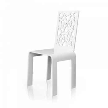 Chaise jardin dentelle blanche acrila -cjdb