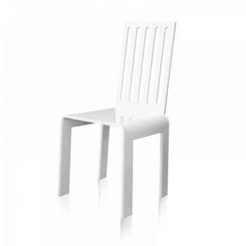 Chaise jardin barreaux blanche acrila -cjbb
