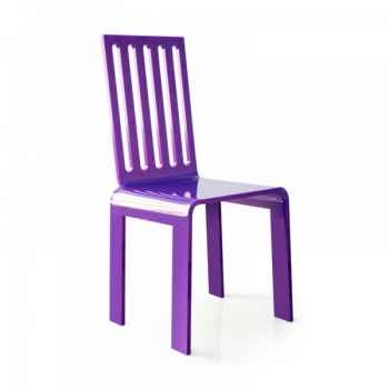 Chaise jardin barreaux violette acrila -cjbvi
