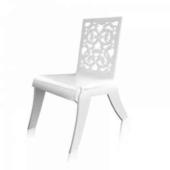 Relax chair jardin dentelle blanche acrila -rcjdb