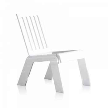 Relax chair jardin barreaux blanche acrila -rcjbb