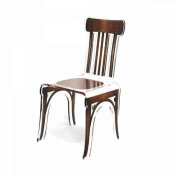 Chaise bistrot marron acrila -cbm