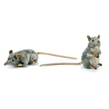 Anima - Peluche rats musqués dressé et couché assorties 16 cm -4110