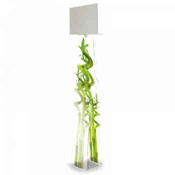 Lampe design bambou acrila -ldb