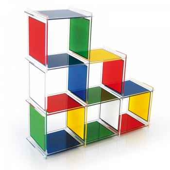 Etagère castelbajac 6 cubes acrila -ec6c