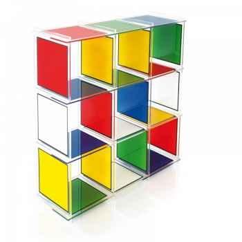 Etagère castelbajac 9 cubes acrila -ec9c
