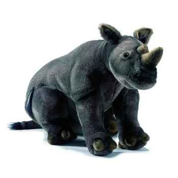 Anima - Peluche rhinocéros assis 43 cm -4232