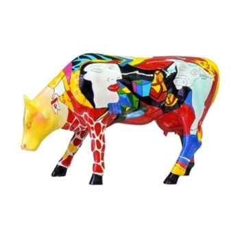 Cow parade -johannesbourg 2005, artiste annalie dempsey - hommage to picowso's african period-46457