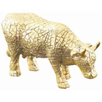 Cow parade -san antonio 2002, artiste margaret pedrotti - mira moo (gold)-47784