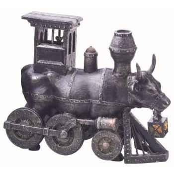 Cow parade -wisconsin 2006, artiste brad nellis, distillery design studio - moo choo-all aboard!-47803