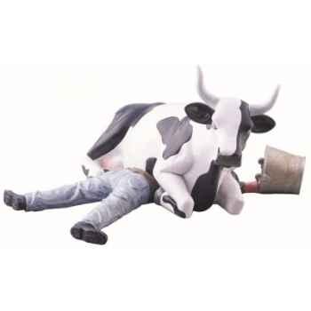Cow parade -buenos aires 2006, artiste gerardo feldstein - ni mu/sitting on man-47811