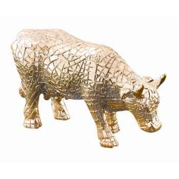 Cow parade -san antonio 2002, artiste margaret pedrotti - mira moo (gold)-46563