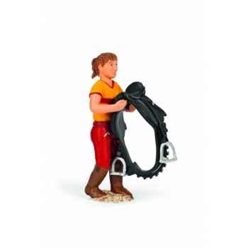 Figurine palefrenière avec fonction animaux schleich 13459