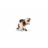 figurine chatte faisant sa toilette animaux schleich 13675