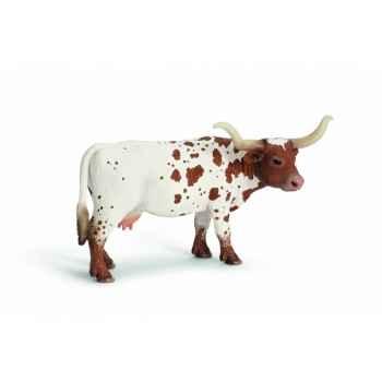 Figurine vache longhorn du texas animaux schleich 13685