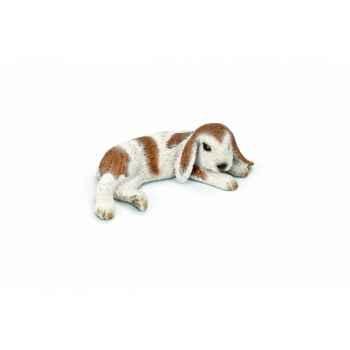 Figurine jeune bélier couché animaux schleich 13697