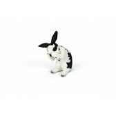 figurine lapin faisant sa toilette animaux schleich 13698