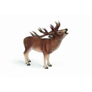 Figurine cerf rouge animaux schleich 14647