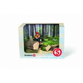 Figurine kit décor travaux en forêt animaux schleich 41806