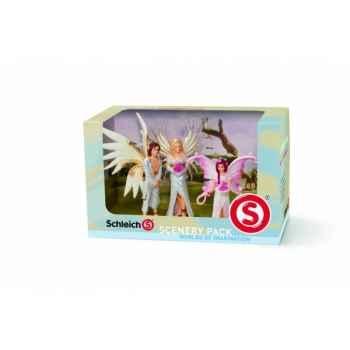Figurine Coffret Pack décor mariage d\'elfes schleich 41809