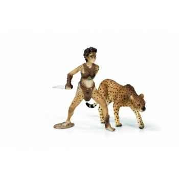 Figurine Liassa la femme guépard Elfes schleich 70442