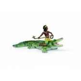 figurine kenjok et crocodile schleich 70444