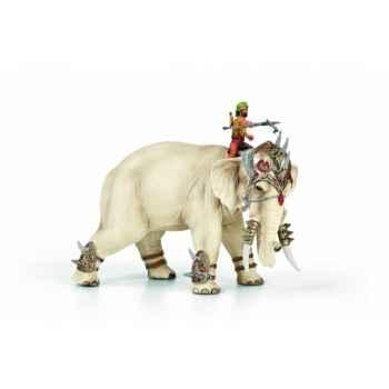 Figurine héros  eléphant de combat animaux schleich 70063