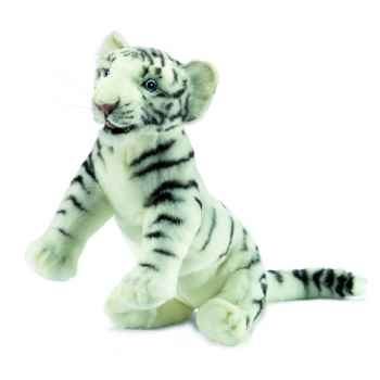 "Anima - Peluche tigre blanc \""insolent\"" 38 cm -4761"
