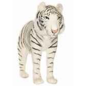 anima peluche tigre blanc a 4 pattes 100 cm 3716
