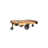 table basse roues de chariot en pin hindigo jk128