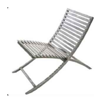 Chaise métal jardin rustique hindigo -je12rust