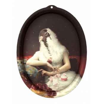 Plateau ovale design Ibride Le Boudoir Portrait Rosita