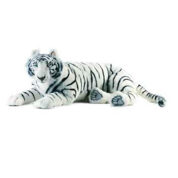 Anima - Peluche tigre blanc couché 100 cm -3951