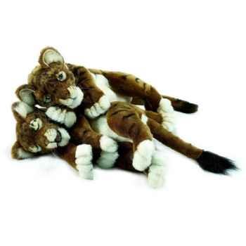"Anima - Peluche tigre brun \""joueur\"" 40 cm -4750"