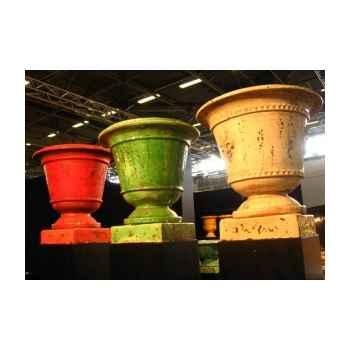 Pot classique fleur de lys ivoire moyen V-CL-ME-F.de Lys-I