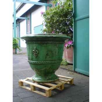 Pot classique fleur de lys vert grand V-CL-LA-F.de Lys-V