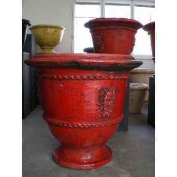 Pot classique faune rouge grand V-CL-LA-Faune-R