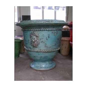 Pot classique faune turquoise grand V-CL-LA-Faune-T